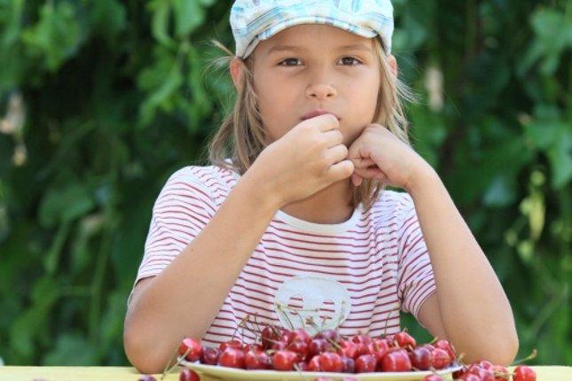 Cerezas en la dieta infantil