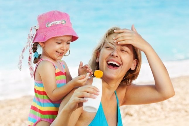 Importancia del protector solar en niños