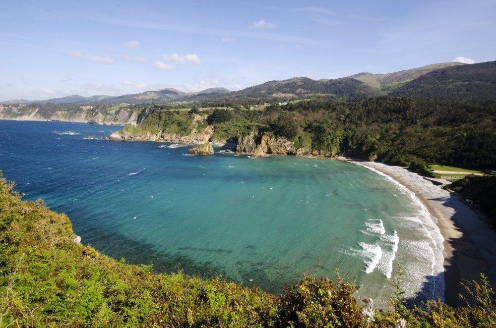 Playa de Cadavedo, en Asturias