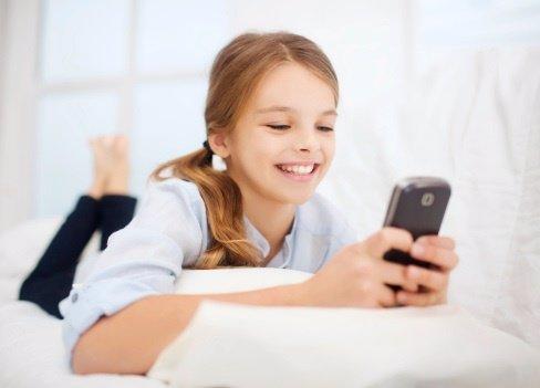 Los niños y los teléfonos móviles