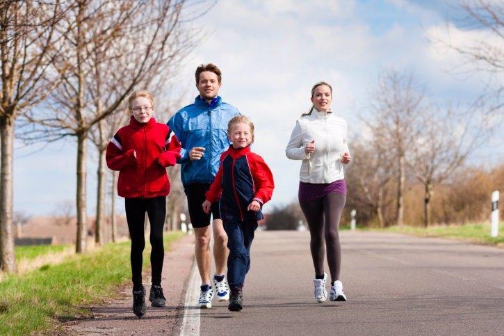 Running, correr en familia