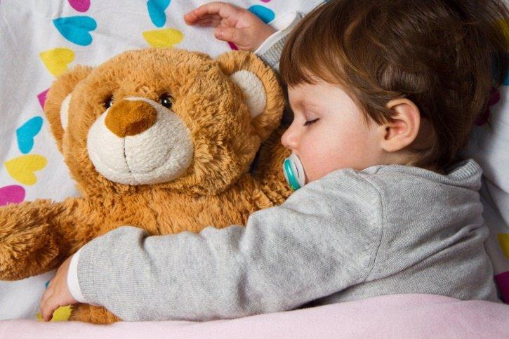 Pesadillas y terrores nocturnos, sueño, niños, dormir, osito de peluche