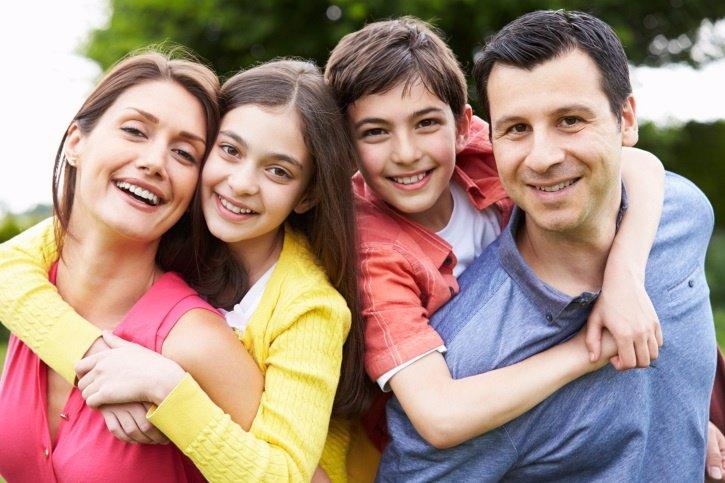 Familia, padres e hijos