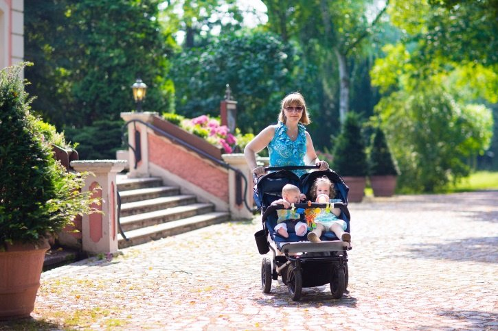 Silla de paseo gemelar, gemelos, mellizos, carrito de paseo