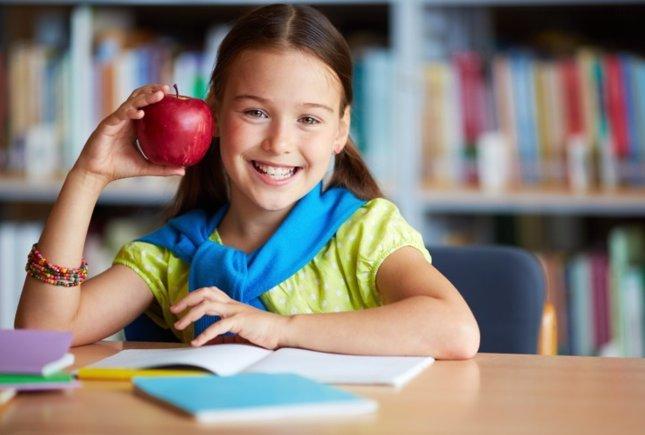 Fruta en el colegio