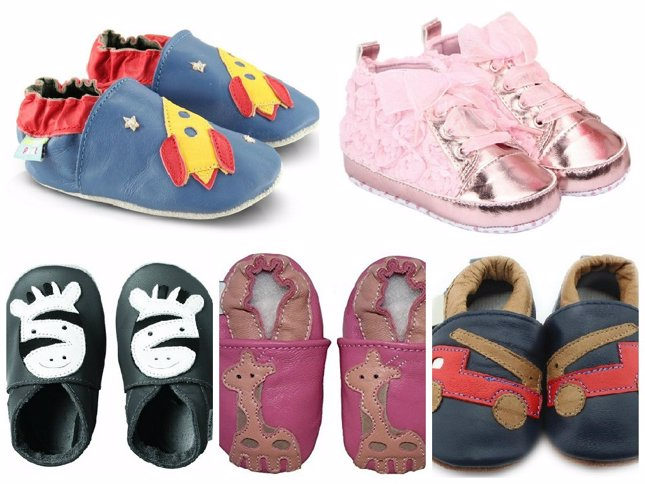 Zapatos de bebé, collage