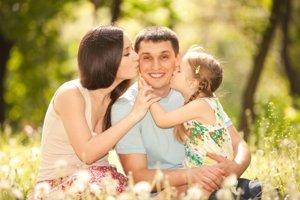 Padre con su familia
