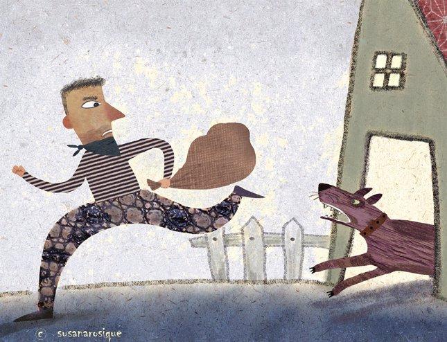 El ladrón y el perro
