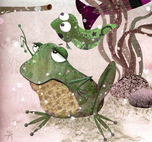 La rana y el renacuajo