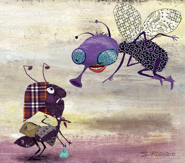 La mosca y la hormiga