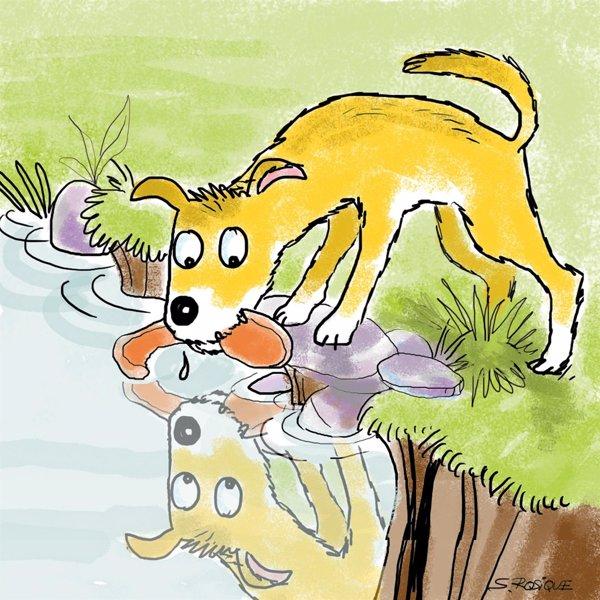 El perro y la chuleta