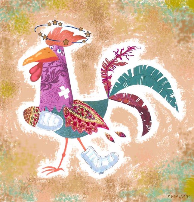 El pollo y los gallos