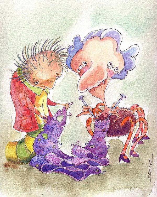 El gusano de seda y la araña