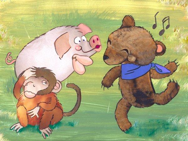 El oso, la mona y el cerdo