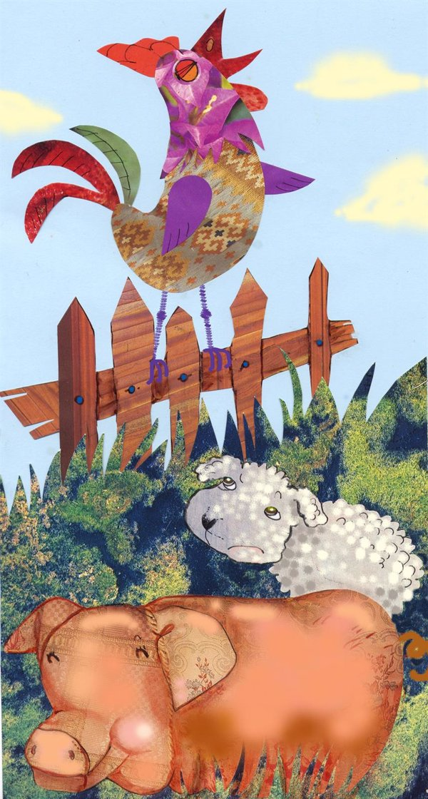 El gallo, el cerdo y el cordero