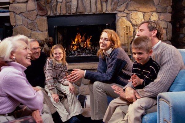 Reunión familiar en Navidad