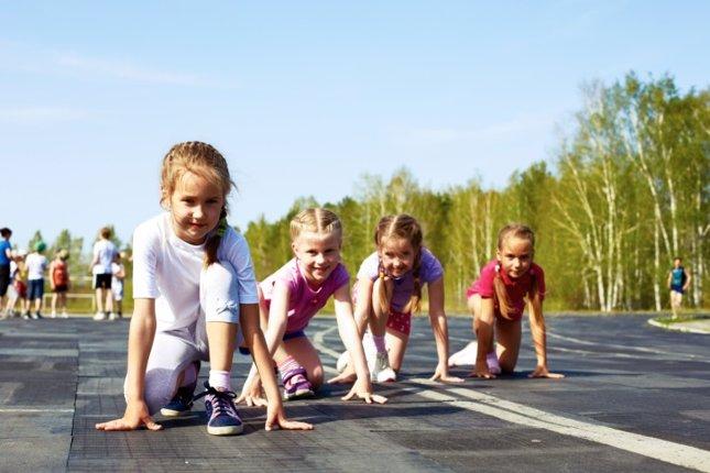 Niños ejercicio físico, deporte