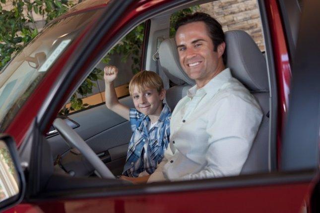 Padre al volante