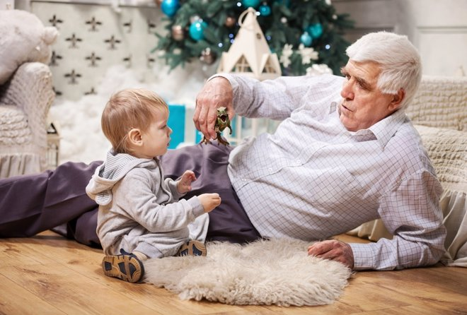 Navidad en familia con los nietos