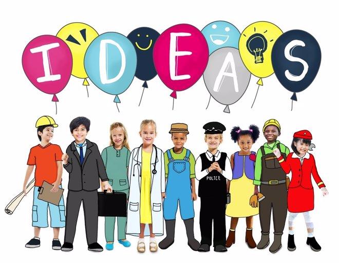 Genios creativos; niños imaginativos