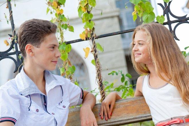 El primer amor en la adolescencia